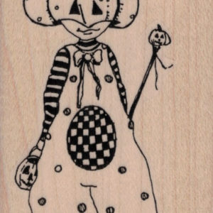 Whimsical Pumpkin Trick or Treater 2 ½ x 3 ¾-0