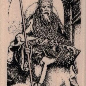 Tarot V-The Pope/Hierophant 1 3/4 x 3 1/4-0