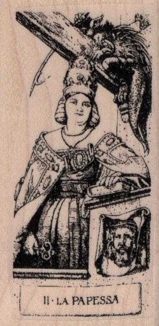 Tarot II-High Priestess 1 3/4 x 3 1/4