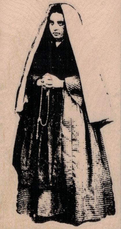 Saint Bernadette 2 1/4 x 4