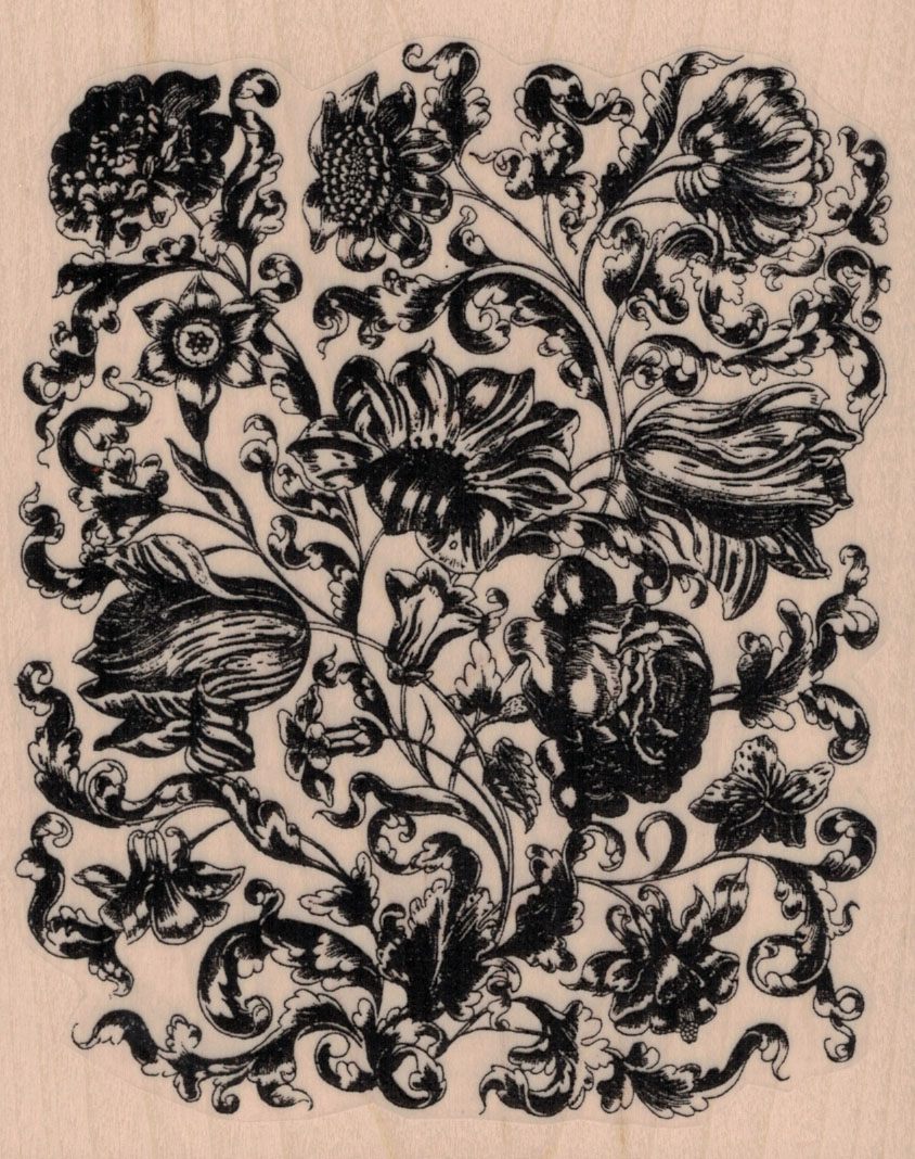 Victorian Flower Background 4 1/2 x 5 1/2