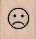 Sad Face 3/4 x 3/4-0