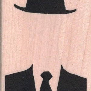 Place Face Here/ Businessman Silhouette 2 1/4 x 3 1/4-0