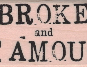 Broke And Famous 1 1/4 x 2 1/4-0