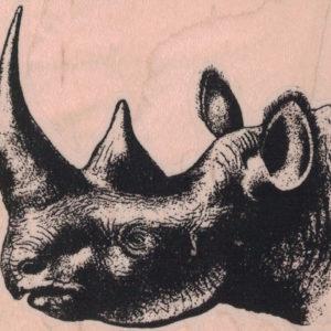 Rhinoceros Head 3 x 2 1/2-0