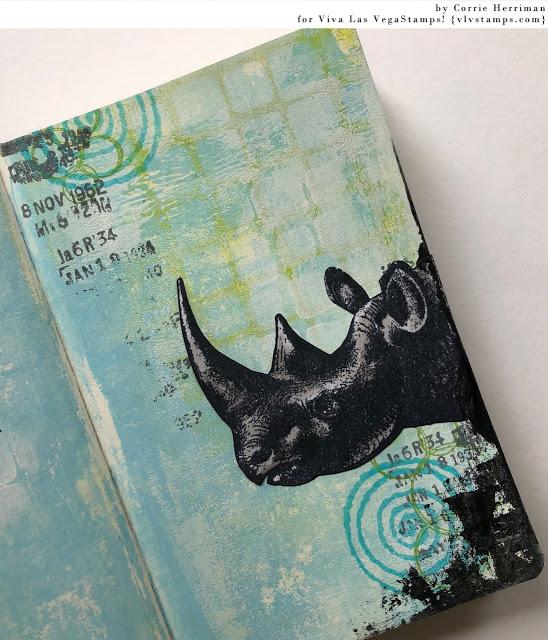 Rhinoceros Head 3 x 2 1/2-77705