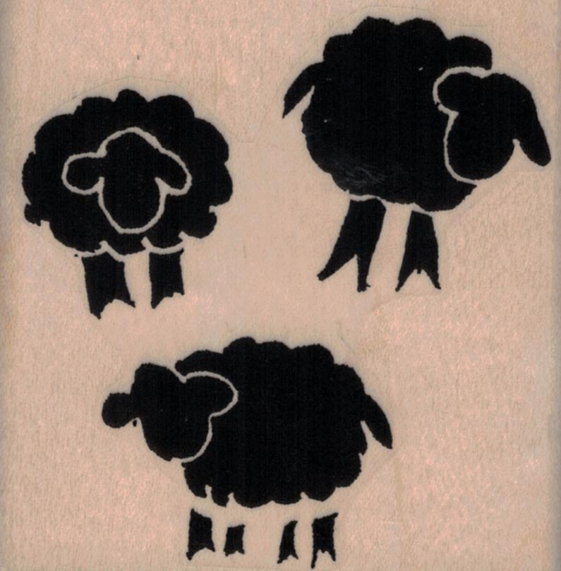 Ethos 3 Sheep By Tina Walker 2 3/4 x 2 3/4