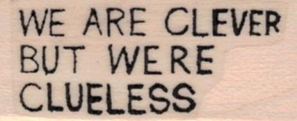 Banksy We Are Clever 3/4 x 1 1/2