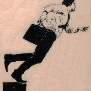 Banksy Businessman Falling 3 1/4 x 3 1/2-0