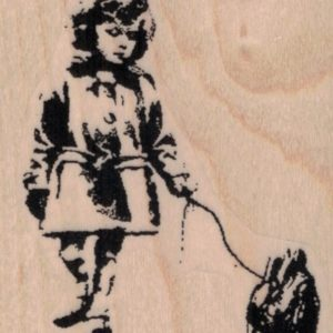 Banksy Girl With Heart 2 1/4 x 2 1/2-0