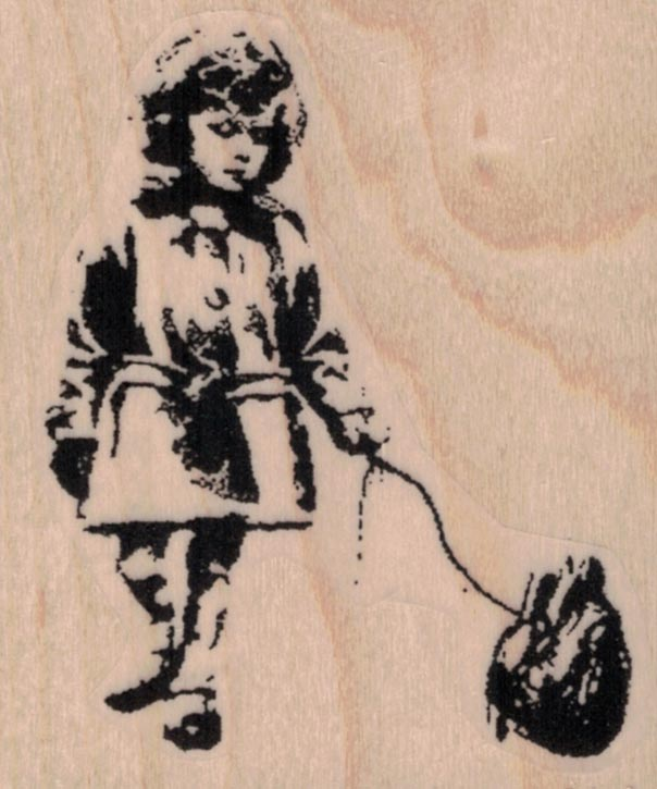 Banksy Girl With Heart 2 1/4 x 2 1/2