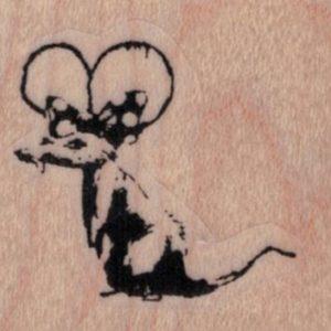 Banksy Minnie Mouse Rat 1 1/2 x 1 1/4-0