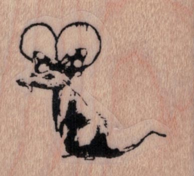 Banksy Minnie Mouse Rat 1 1/2 x 1 1/4-0