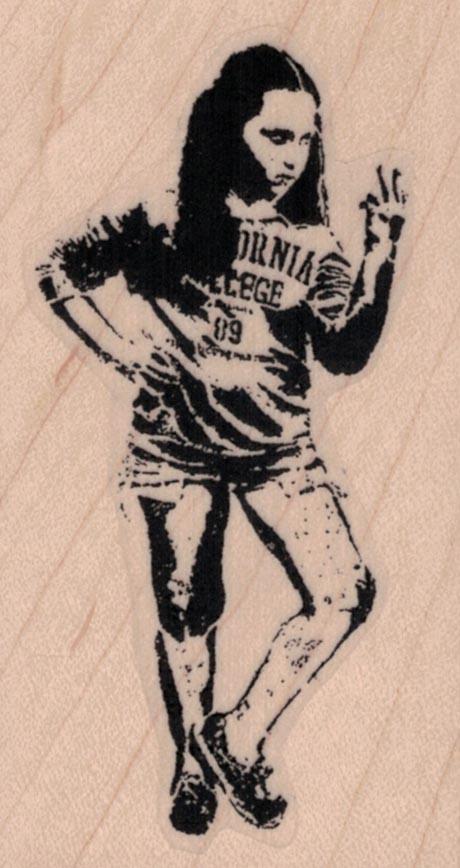 Banksy 2 Finger Girl 1 3/4 x 3