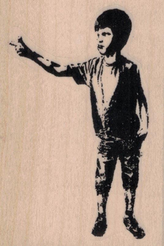 Banksy Pointing Boy 2 x 2 3/4