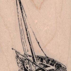 Wooden Sailboat 2 x 3 3/4-0
