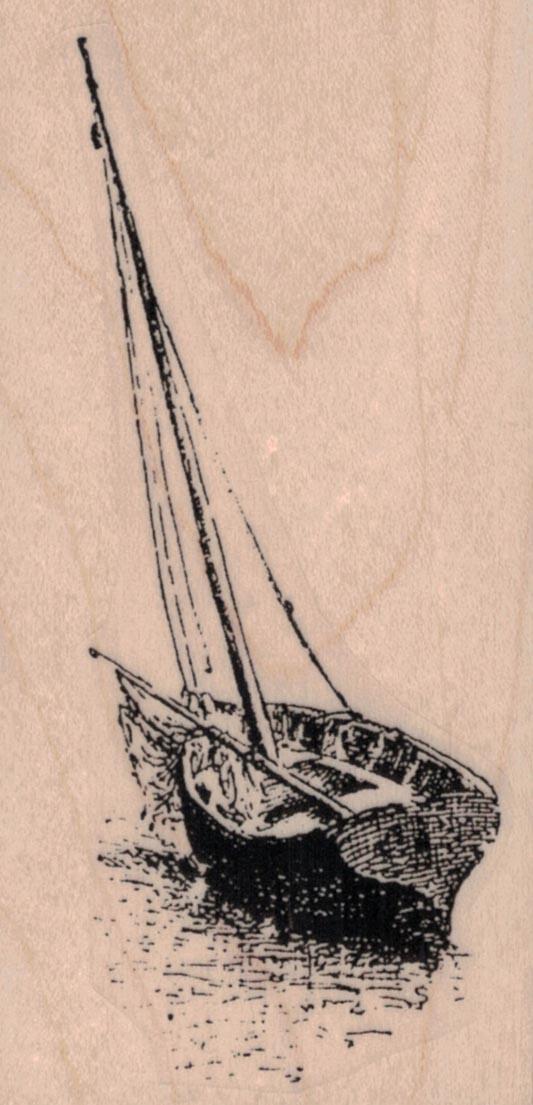 Wooden Sailboat 2 x 3 3/4