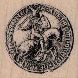 Jousting Knight Coin 1 3/4 x 1 3/4-0