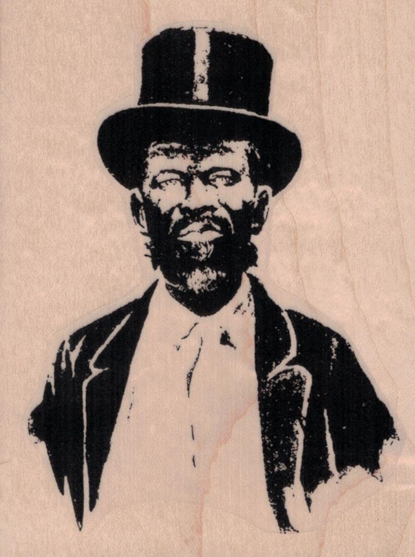 Vintage African American Gentleman 3 x 3 3/4